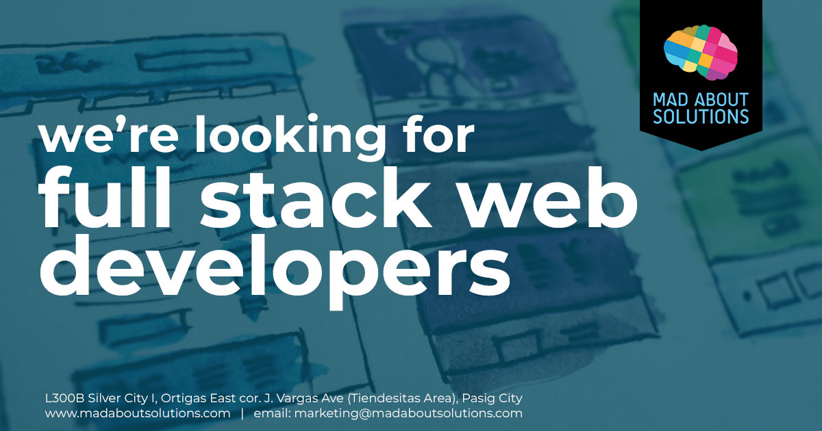 Full Stack Web Developer - Mad About Solutions